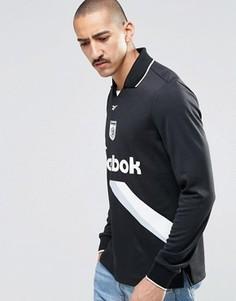 Черный свитшот с воротником Reebok AY4858 - Черный