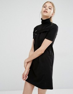 Платье с воротником-трубой и D-образным кольцом Cheap Monday - Черный