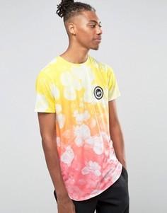 Футболка с градиентным цветочным принтом Hype - Желтый