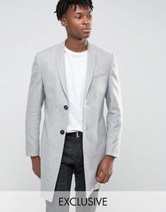 Строгое приталенное пальто Noak - Серый