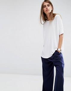 Свободная футболка с драпировкой ASOS - Белый