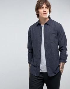 Рубашка узкого кроя в крапинку Hoxton Shirt Company - Серый