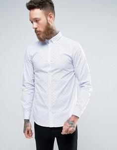 Рубашка с геометрическим принтом Selected - Белый