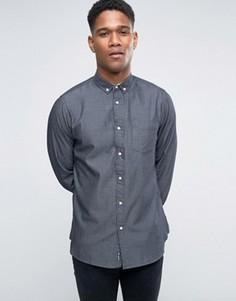 Саржевая оксфордская рубашка Tokyo Laundry - Черный