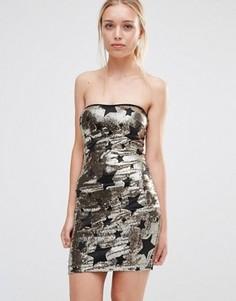 Платье мини с пайетками City Goddess - Золотой