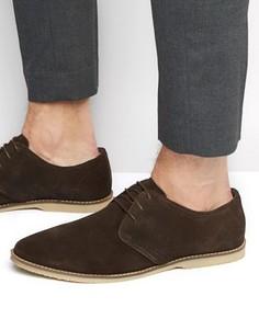 Коричневые замшевые туфли дерби ASOS - Коричневый