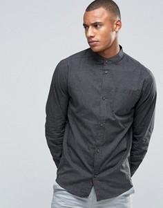 Клетчатая рубашка с воротником на пуговицах D-Struct - Темно-синий