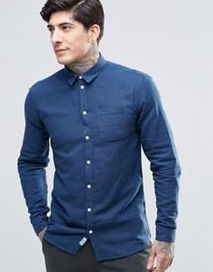 Рубашка на пуговицах с карманом Minimum - Темно-синий