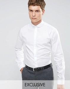 Рубашка скинни с закругленным воротником Heart & Dagger - Белый