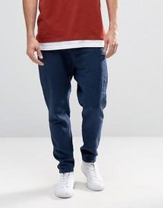 Темно-синие узкие брюки карго из льняной смеси ASOS - Темно-синий