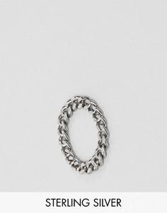 Серебряное кольцо-цепочка с крупными звеньями ASOS - Серебряный