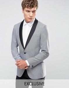 Пиджак-смокинг с атласными лацканами Number Eight Savile Row - Белый