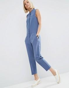Комбинезон с топом‑рубашкой ASOS - Синий