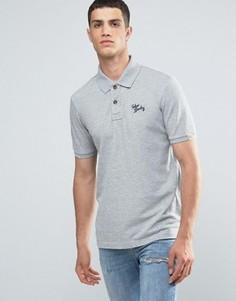 Однотонная футболка-поло с логотипом Tokyo Laundry - Серый