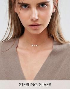 Ожерелье-чокер из позолоченного серебра ASOS - Золотой