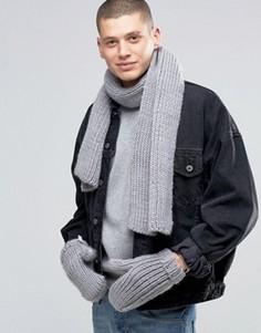 Серые шарф и перчатки adidas Originals AY9042 - Серый