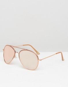 Большие солнцезащитные очки‑авиаторы ASOS - Золотой