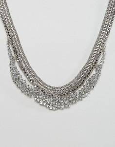 Броское ожерелье DesignB - Серебряный