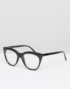 Солнцезащитные очки с прозрачными стеклами ASOS - Черный