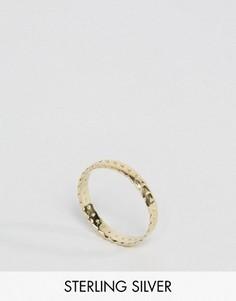 Позолоченное серебряное кольцо с отделкой в виде листьев ASOS - Золотой