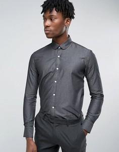 Строгая рубашка в горошек Original Penguin - Темно-синий