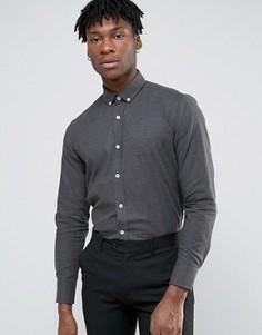 Строгая фланелевая рубашка Original Penguin - Серый