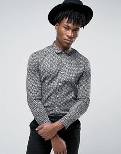 Строгая рубашка с принтом пейсли Original Penguin - Темно-синий