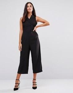 Комбинезон с юбкой-шортами AX Paris Tailored - Черный