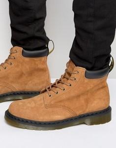 Замшевые ботинки с 6 парами люверсов Dr Martens 939 - Рыжий
