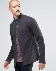Рубашка из плотного трикотажа на кнопках Only & Sons - Черный