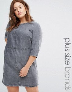 Джинсовое цельнокройное платье Junarose - Серый