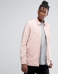 Пыльно-розовая рубашка навыпуск на молнии ASOS - Розовый