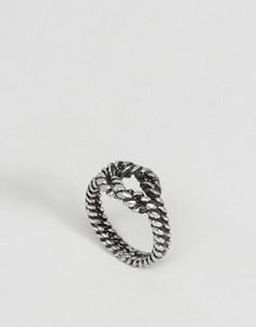 Кольцо с символом бесконечности ASOS - Серебряный
