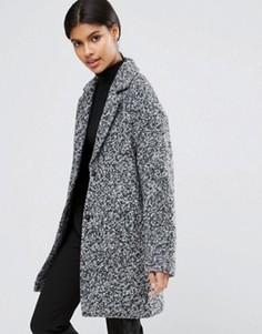 Фактурное пальто-кокон ASOS - Мульти