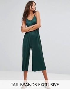Укороченный комбинезон с плиссировкой Glamorous Tall - Зеленый