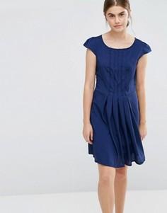 Платье с плиссировкой спереди Jasmine - Темно-синий
