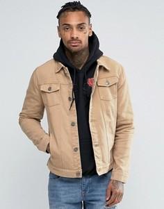 Светло-коричневая джинсовая куртка Liquor & Poker - Коричневый