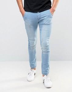 Синие джинсы скинни Illusive London - Синий