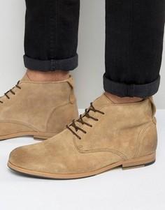 Замшевые ботинки на шнуровке Shoe The Bear Oliver - Бежевый