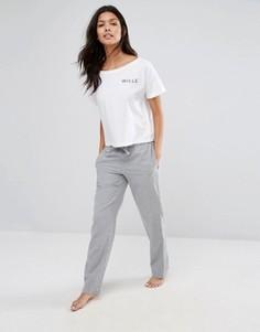 Фланелевые штаны для дома Jack Wills Ask Fretherne - Серый