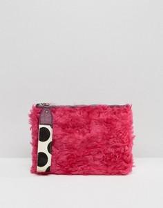Клатч из искусственного меха House Of Holland - Розовый