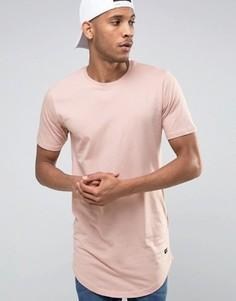 Длинная футболка Only & Sons - Розовый