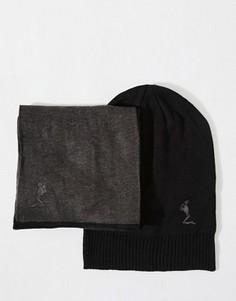 Подарочный набор с шапкой и шарфом Religion - Черный