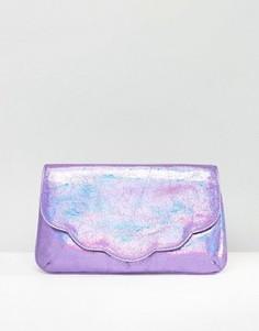Клатч цвета металлик с рельефной отделкой ASOS - Розовый