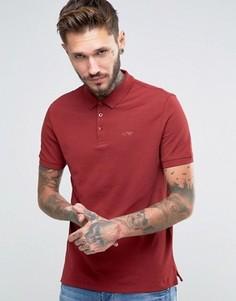 Бордовая футболка‑поло классического кроя с логотипом Armani Jeans - Красный
