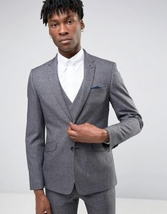 Приталенный пиджак Burton Menswear - Серый