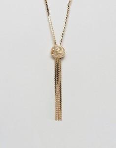 Ожерелье-цепочка с узелком ASOS - Золотой