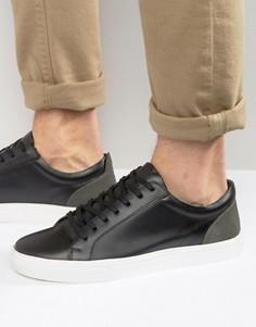 Черные кожаные низкие кроссовки KG By Kurt Geiger - Черный
