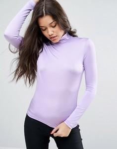 Топ с воротником поло ASOS - Фиолетовый