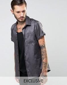 Рубашка классического кроя Зодиака Reclaimed Vintage - Серый